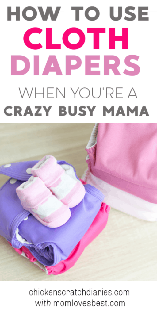 Is it possible to use cloth diapers even when you're not at home all day every day? You might be surprised. #ClothDiapers #Crunchy #NaturalLiving #Baby #Newborn #Motherhood