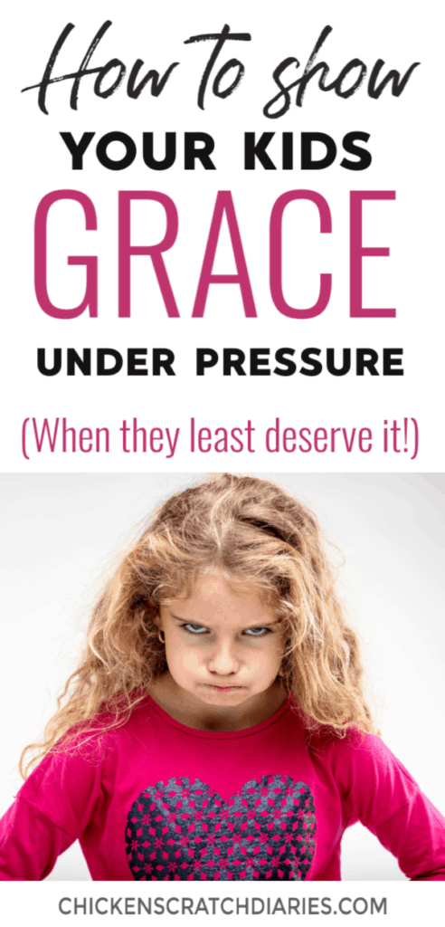 How to show kids grace. When they're testing your patience, when their behavior is at its worst - here are 5 ways you can lead by example and teach your kids what God's grace really means. #Grace #Parenting #Faith