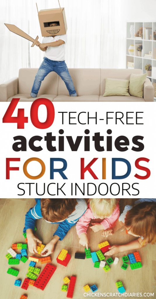 These fun and easy indoor activities for kids are perfect for winter or rainy days. Free printable available. #Activities #Kids #Fun #Winter #Indoors #Crafts #Games