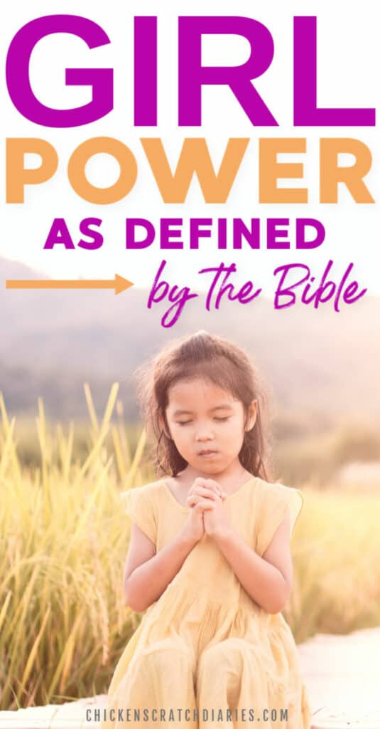 Image with text: Girl power as defined by the Bible