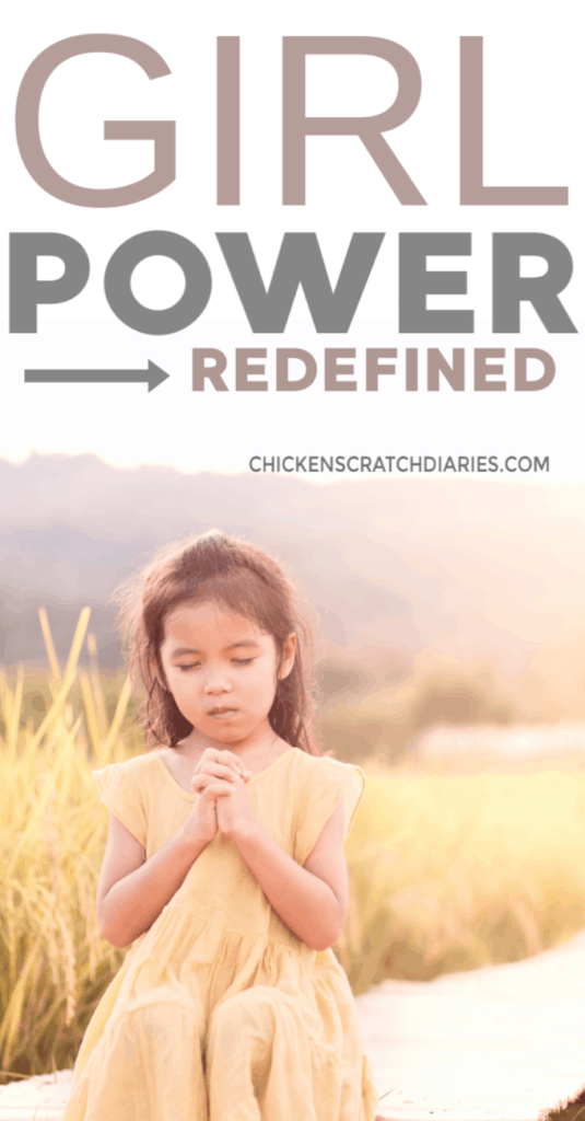 image: young girl praying
