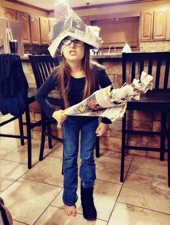 Indoor Activities for Kids - Newspaper Pirate Costume