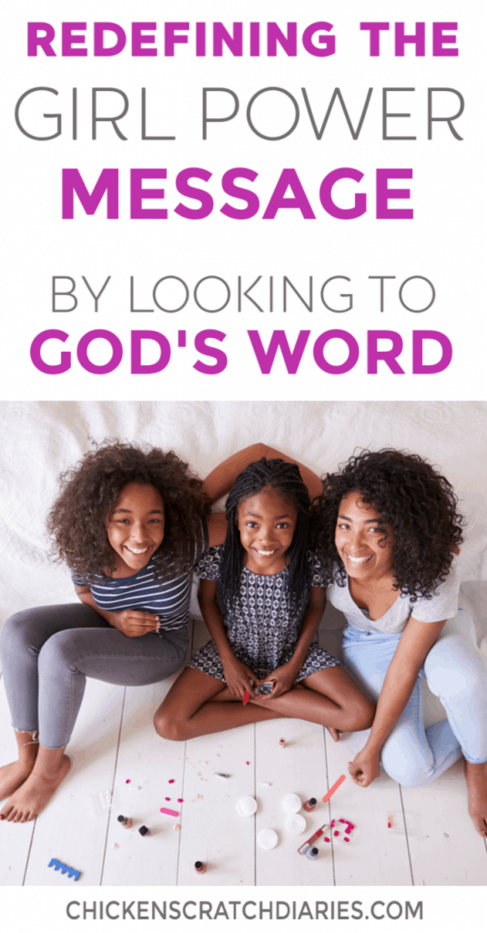 "Raising girls who know their true worth comes from Jesus is so critical when feminism and ""girl power"" messaging is everywhere, teaching conflicting messages about their worth. #RaisingGirls #Faith #ChristianMom #Parenting"