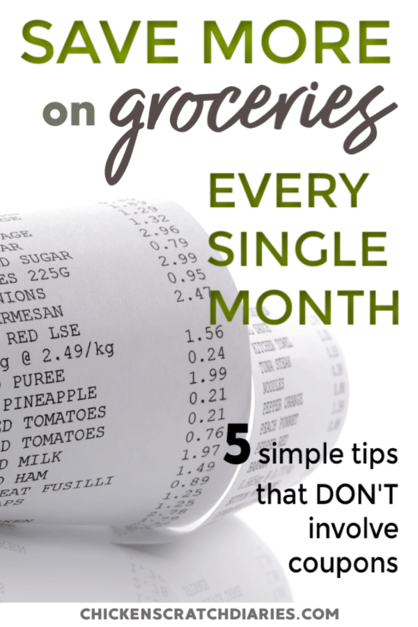 Grocery shopping on a budget doesn't have to be hard- with the right plan. No coupons needed with these tips! #Groceries #Budget #SaveMoney #FrugalLiving