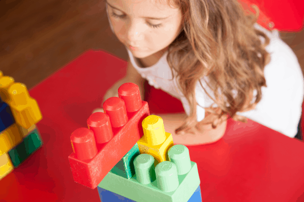 Stacking legos - indoor activities for kids