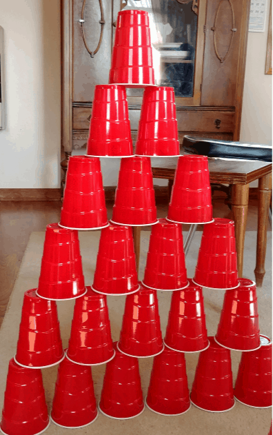 Stacking cups: Indoor activities for Kids