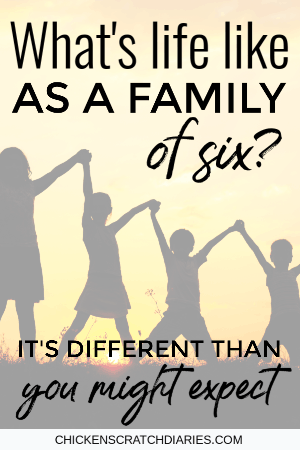 """If you're a mom of four kids or planning on having four kids- this is for you. The reality (and the humor) of raising a """"large"""" family in today's world. #BigFamily #Parenting #Motherhood #Kids"""