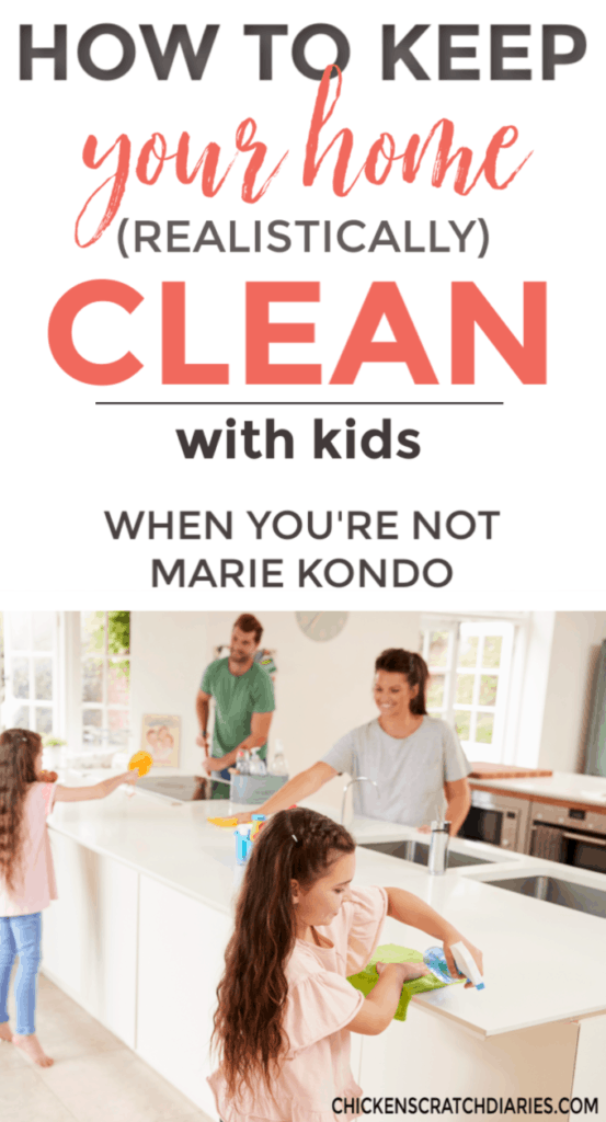 How to keep a clean house with kids living in it: It's the mom life reality we all struggle with. With the right systems though, it IS possible. #Cleaning #Homemaking #Kids #MomLife #OrganizingLife