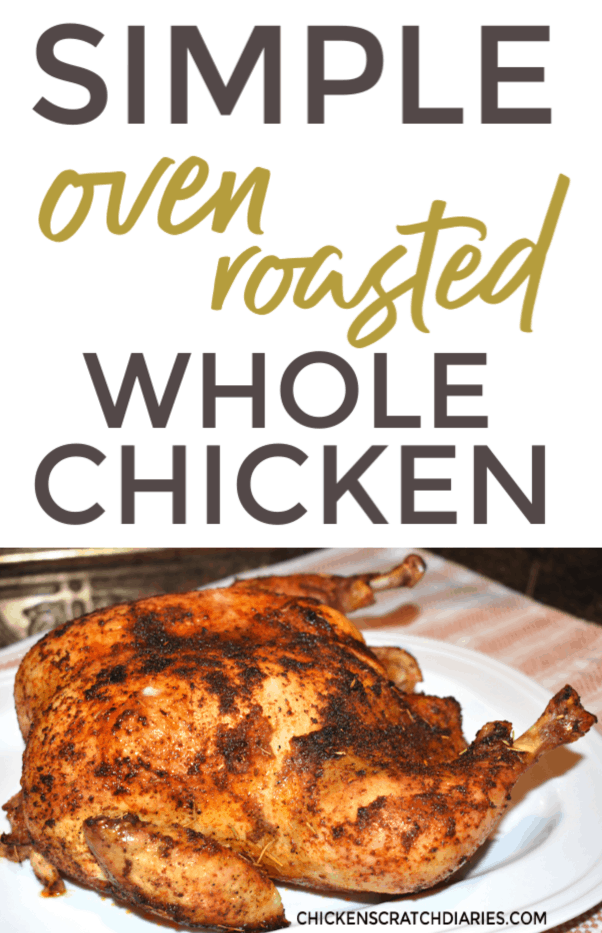Want to know how to roast a chicken in the oven for dinner tonight? This simple roasted chicken recipe is so easy! Crispy, juicy and made with simple spices. Perfect recipe for families. #Chicken #RoastChicken #Dinner #EasyRecipes #FamilyMeals