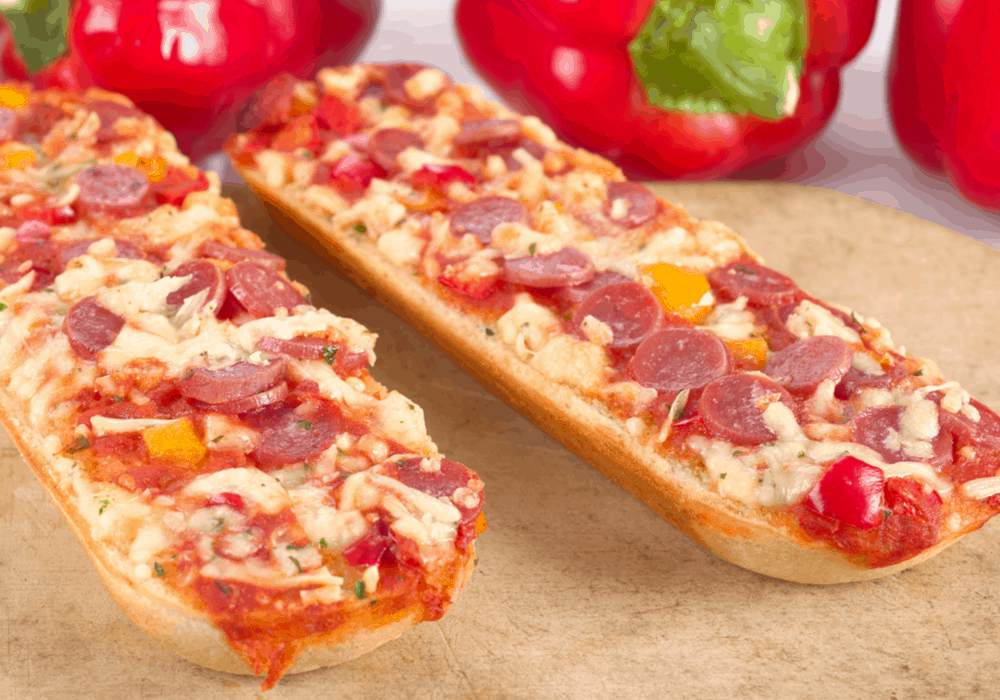 french bread pizza: quick dinner idea