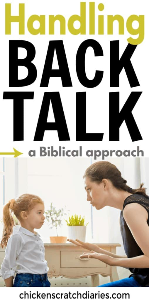 Image: Mom disciplining daughter for talking back