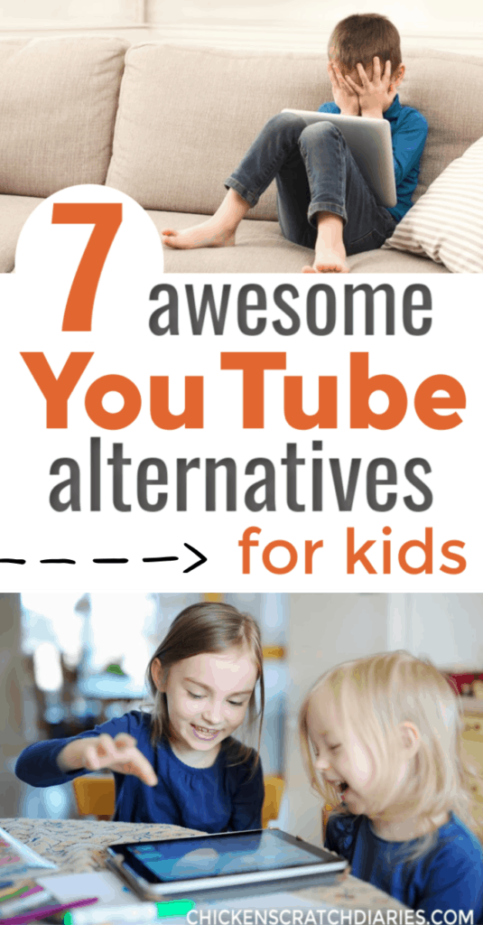 image with text: 7 awesome YouTube alternatives for kids