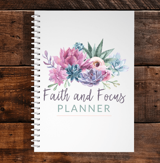 Image of faith and focus planner