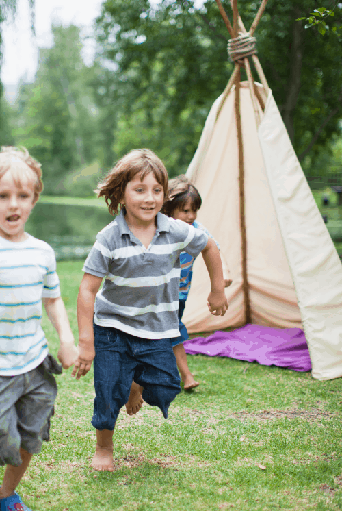 Tepee activity - outdoor activity idea for kids