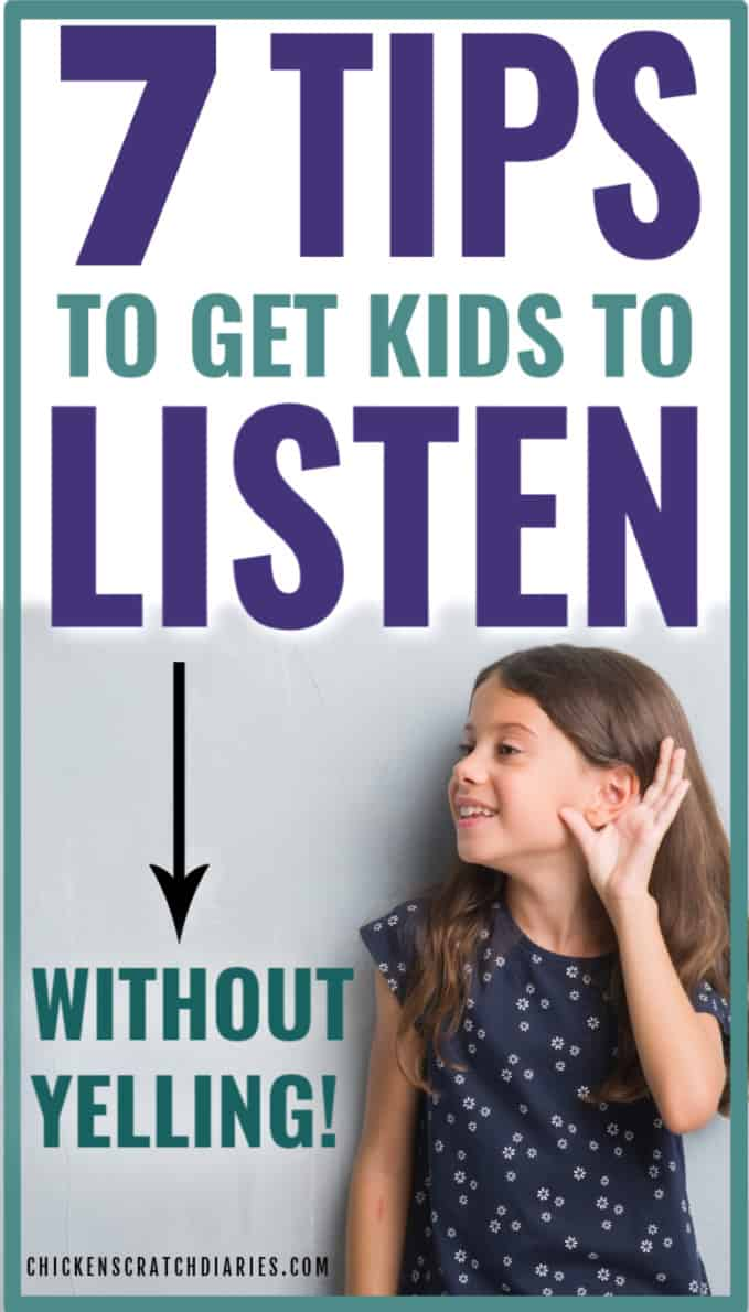get kids to stop yelling