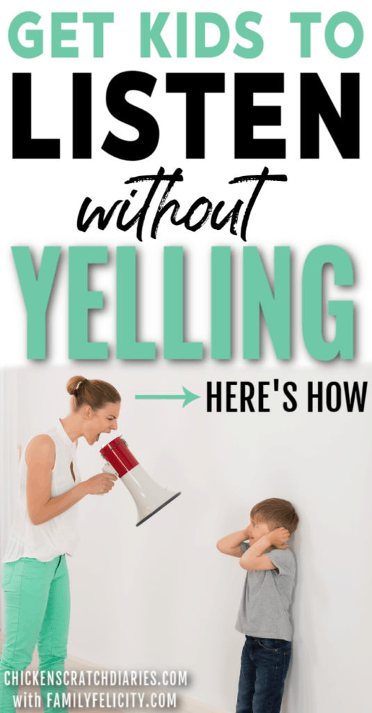 How to get kids to listen without yelling (image of mom yelling at child)