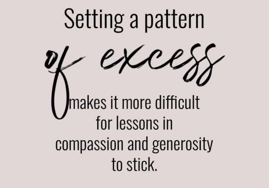 The problems with setting a pattern of excess