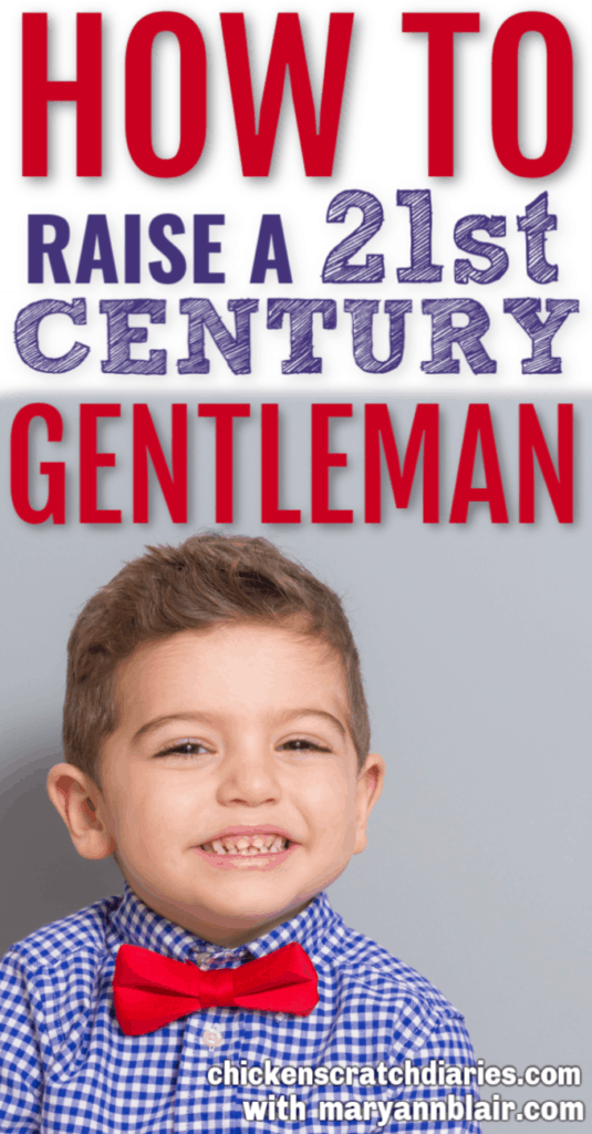 How to raise a gentleman: image of little boy with bowtie