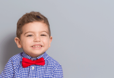 Raising gentlemen today: image of little boy with bowtie