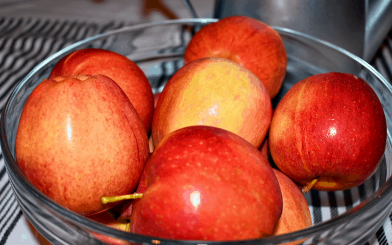 Apple Crisp Recipe, Step 1: image of apples in a bowl