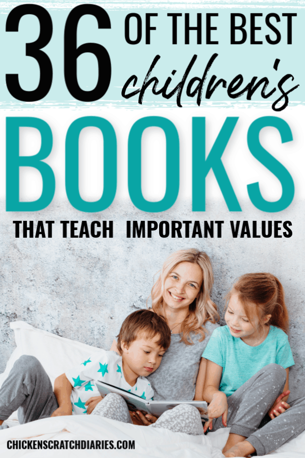 Best books on values: image of mom reading to kids