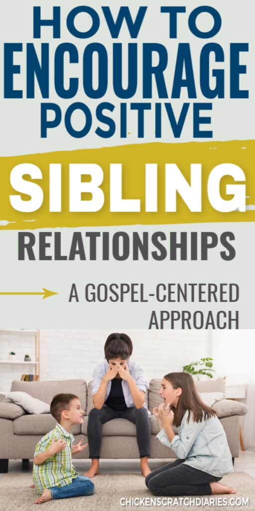 Encouraging positive sibling relationships instead of rivalry