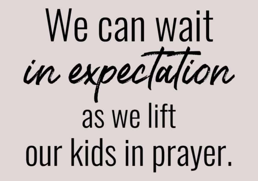 We can trust God with our kids as we pray for them.