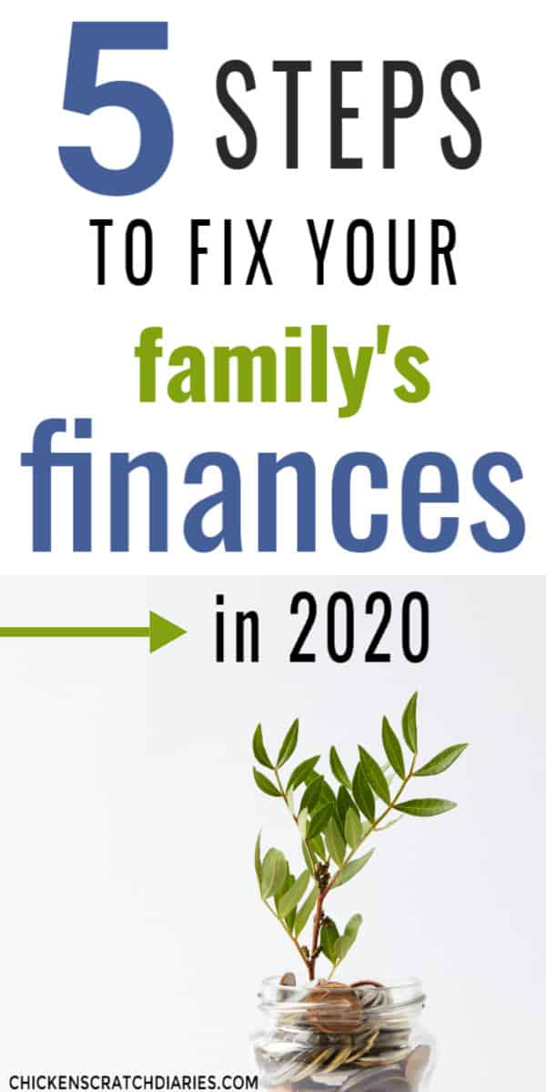 5 steps to fix your family finances
