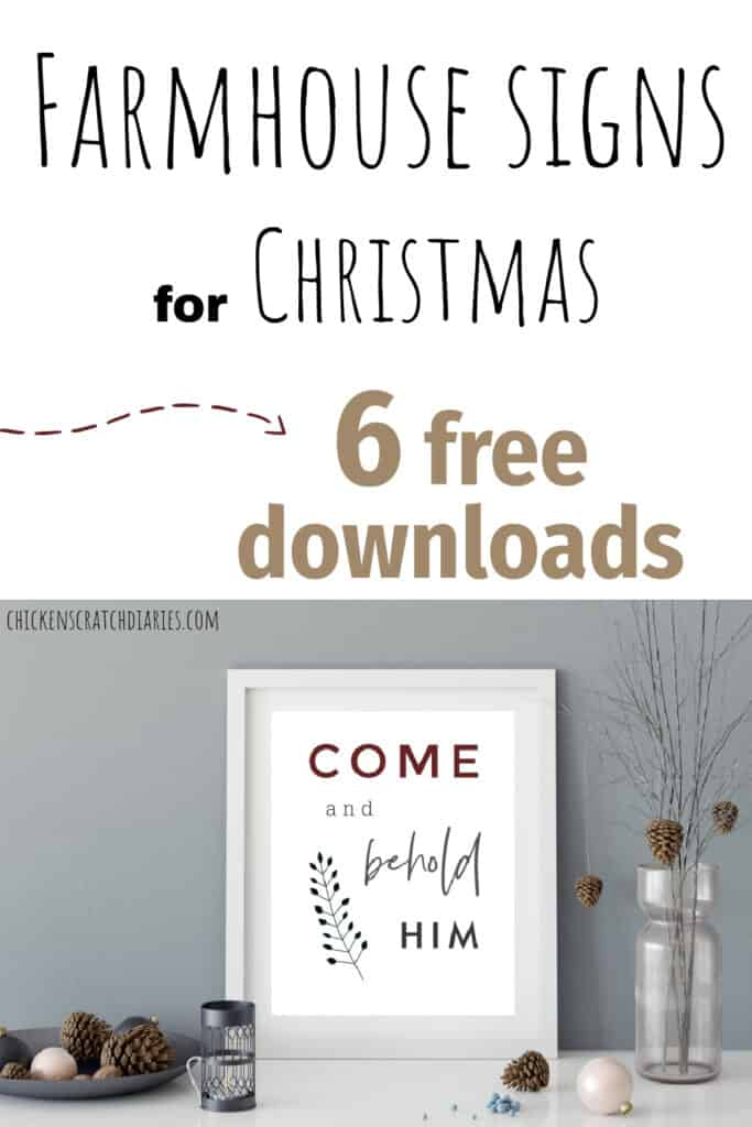 free farmhouse signs for Christmas
