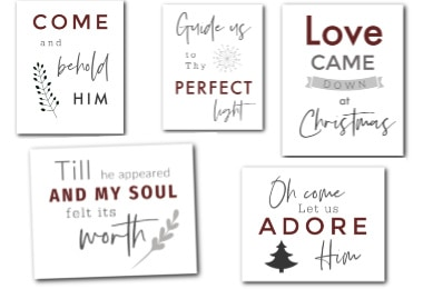 Free Christmas Farmhouse Printables - collage