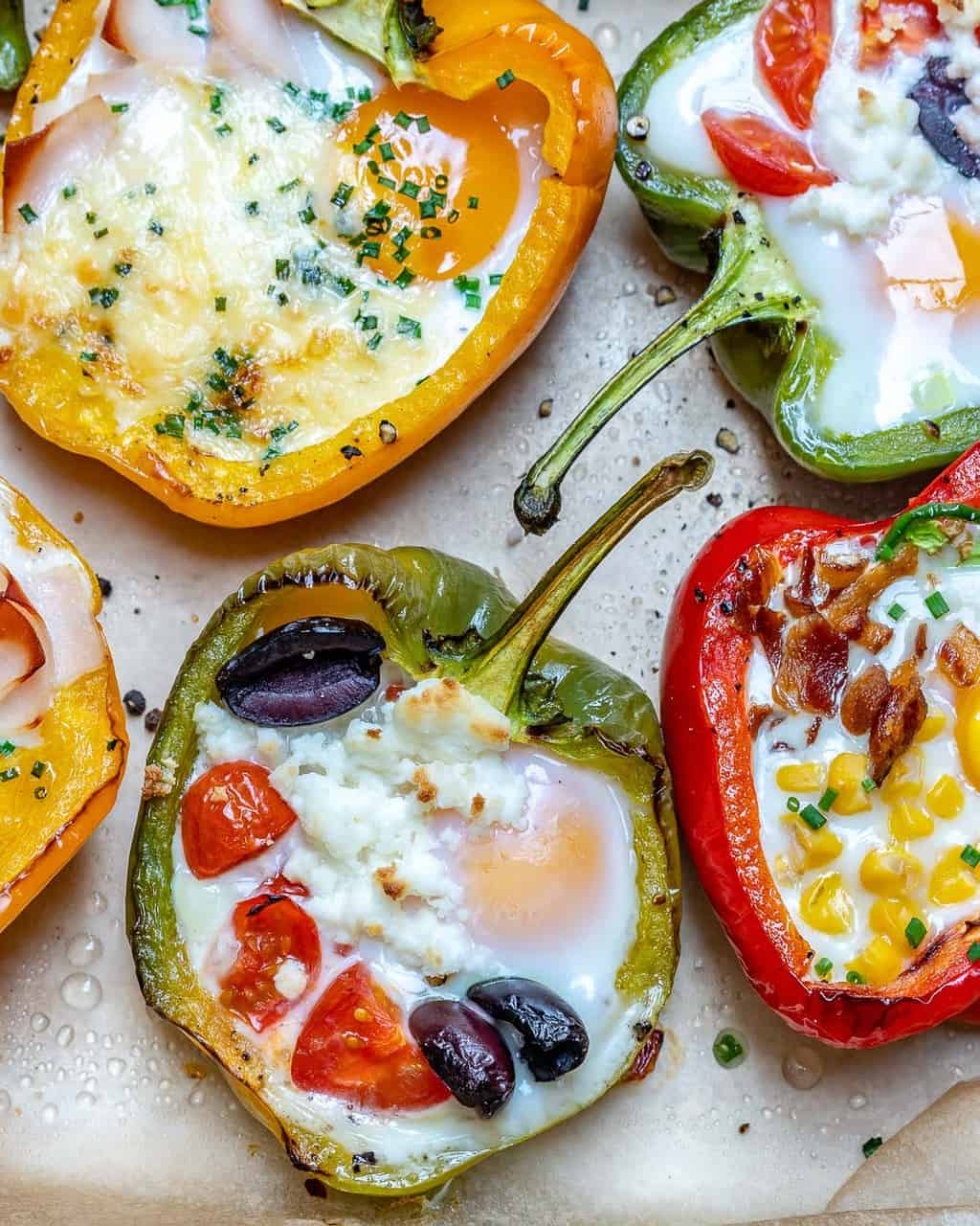 Healthy breakfast for moms: egg stuffed peppers