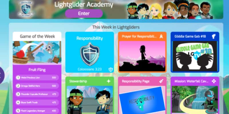 Lightgliders game