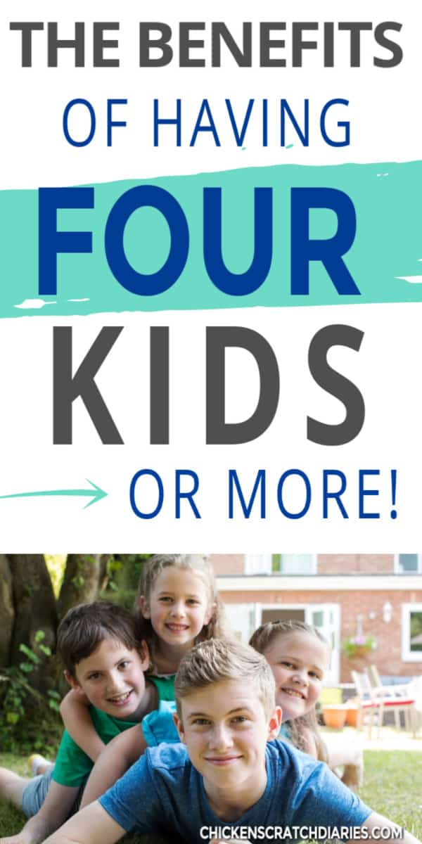 having four kids
