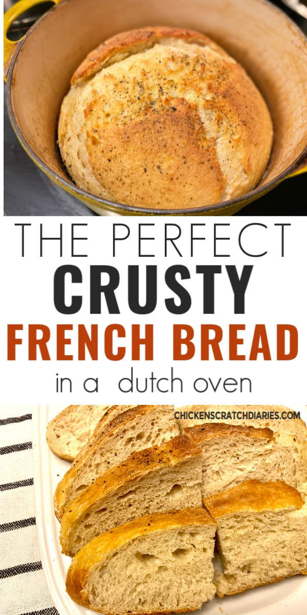 Perfect crusty french bread recipe in a dutch oven