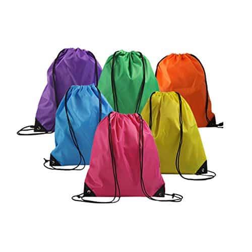 6 Pack Drawstring Backpack
