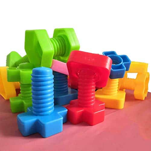 Jumbo Nuts and Bolts Set with Toy Storage | 40pcs …