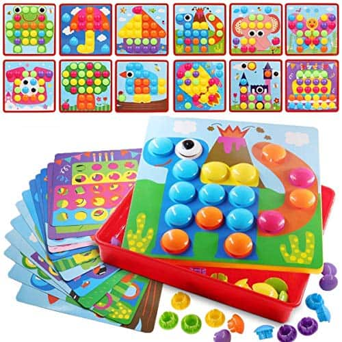 Mosaic Pegboard Early Learning Game