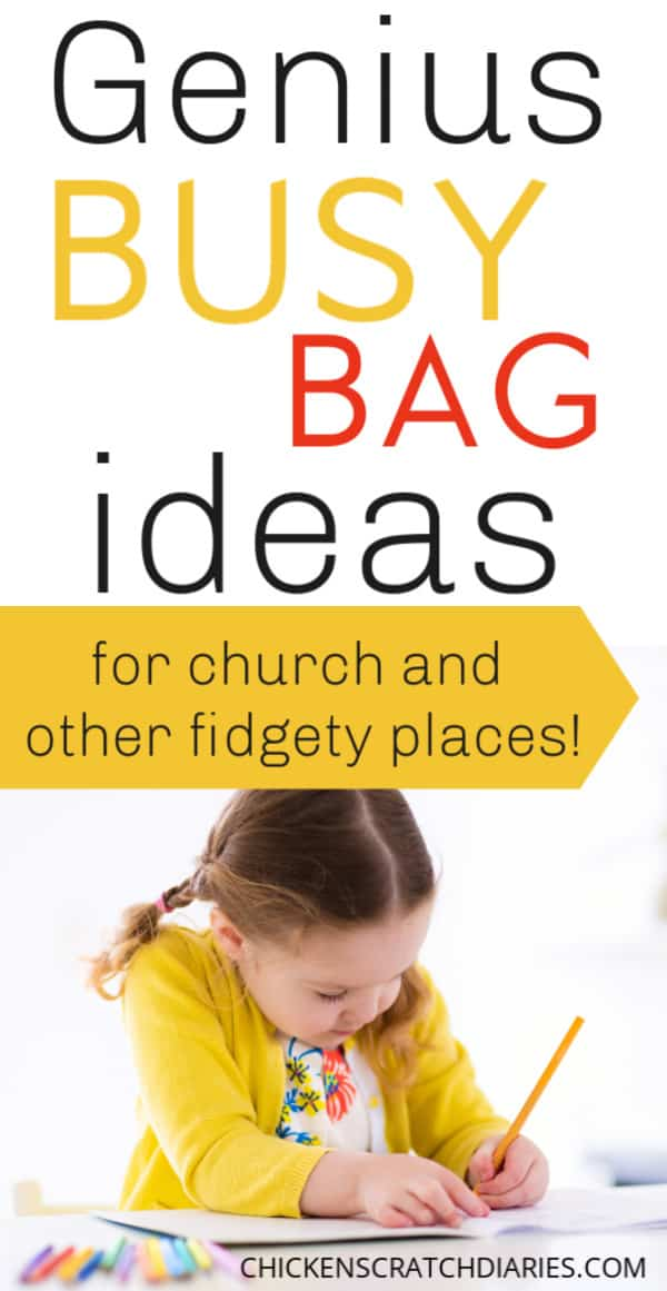 Busy bag ideas for kids