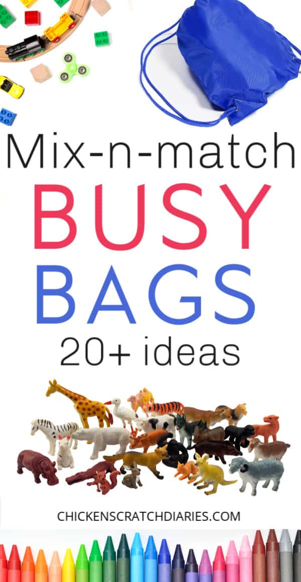 Busy bag ideas for church and quiet places
