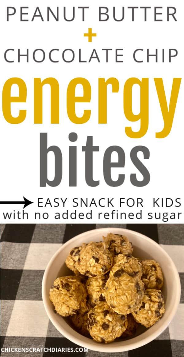 peanut butter chocolate energy balls for kids recipe