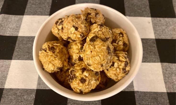 Peanut Butter Chocolate Chip Energy Balls for Kids