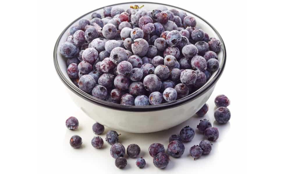 freezer staples - frozen blueberries