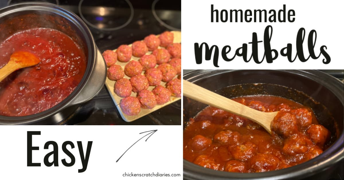 Sweet Amp Tangy Homemade Meatballs Crockpot Or Stovetop 187 Chicken Scratch Diaries