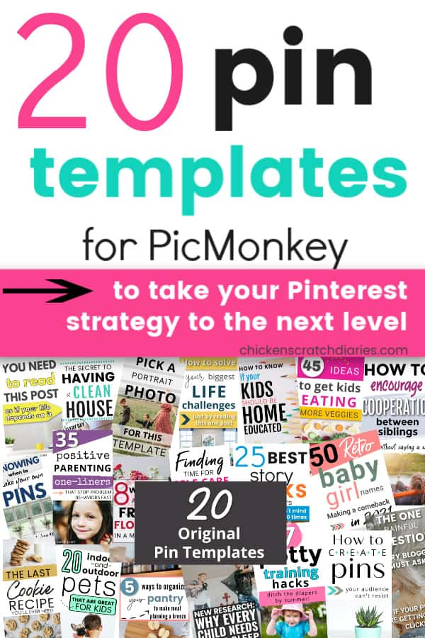 Picmonkey Pinterest Template bundle