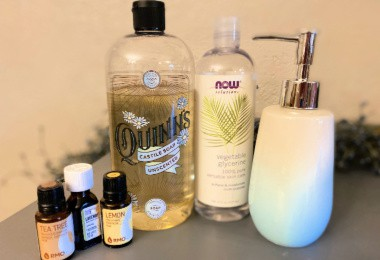 natural skin care-DIY face wash