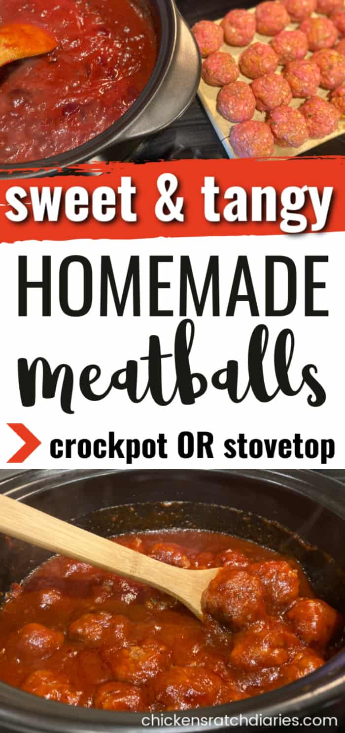 homemade meatballs-sweet and tangy