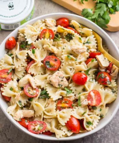healthy tuna pasta-frugal lunch for kids