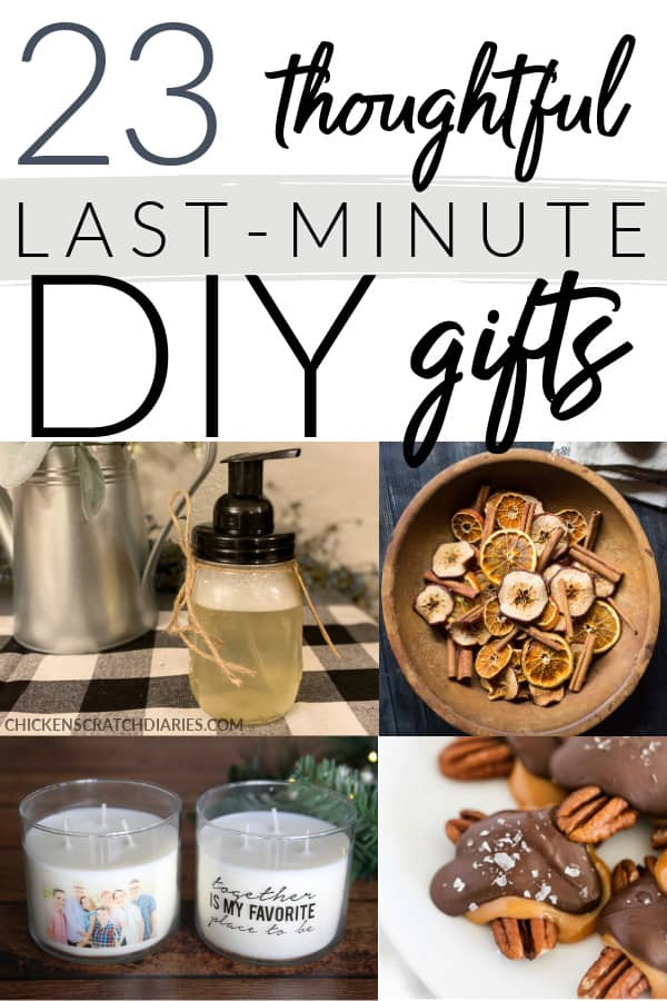 Thoughtful last-minute DIY gifts for friends and family who adore homemade gifts!
