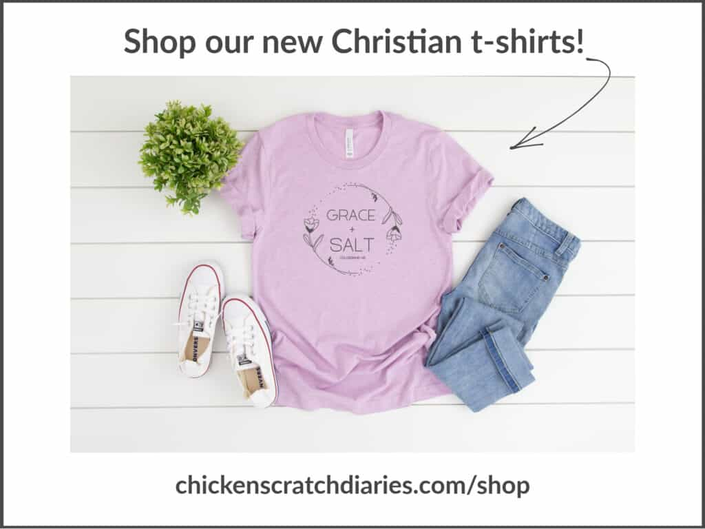 Grace and salt-Christian t-shirt for women