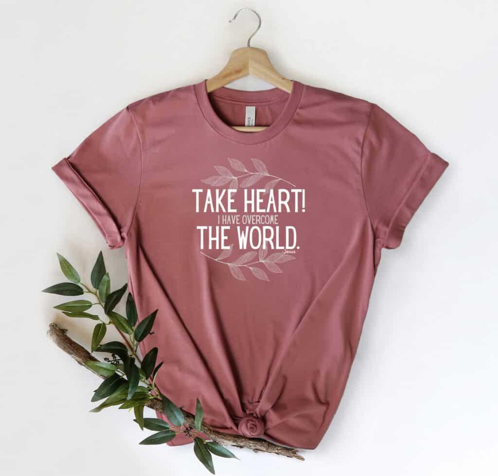 Take heart tshirt image